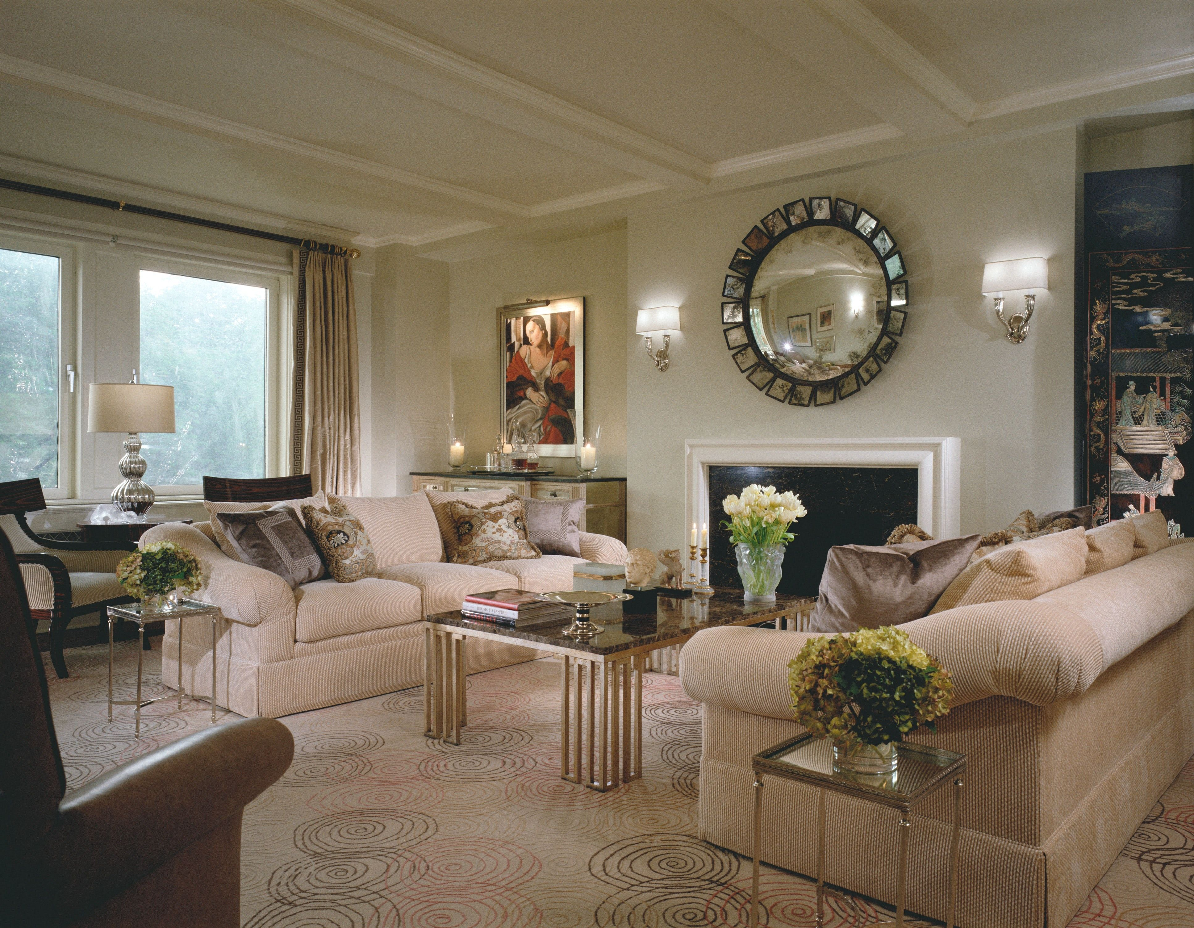 fifth avenue apartment new york city living room interior rh pinterest com