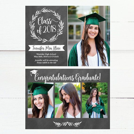 chalk graduation announcement graduation invitation template