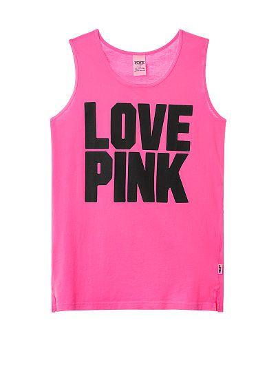 86c50b7089f5c Campus Tank - PINK - Victoria's Secret | Clothes | Pink outfits, Vs ...