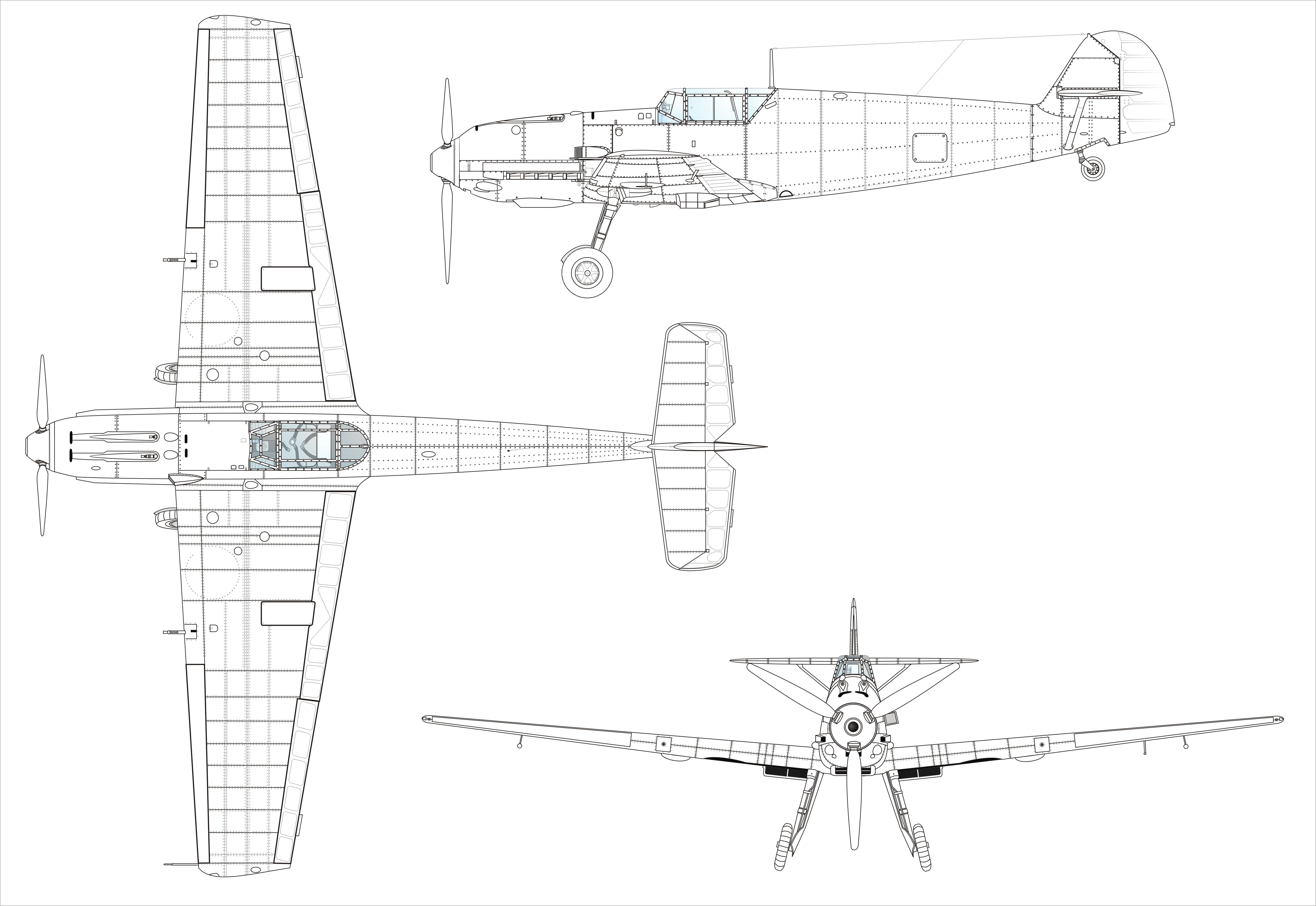 Messerschmitt Bf 109e Blueprint