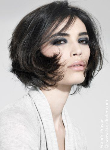 Beautiful hairstyle for shorter hair.