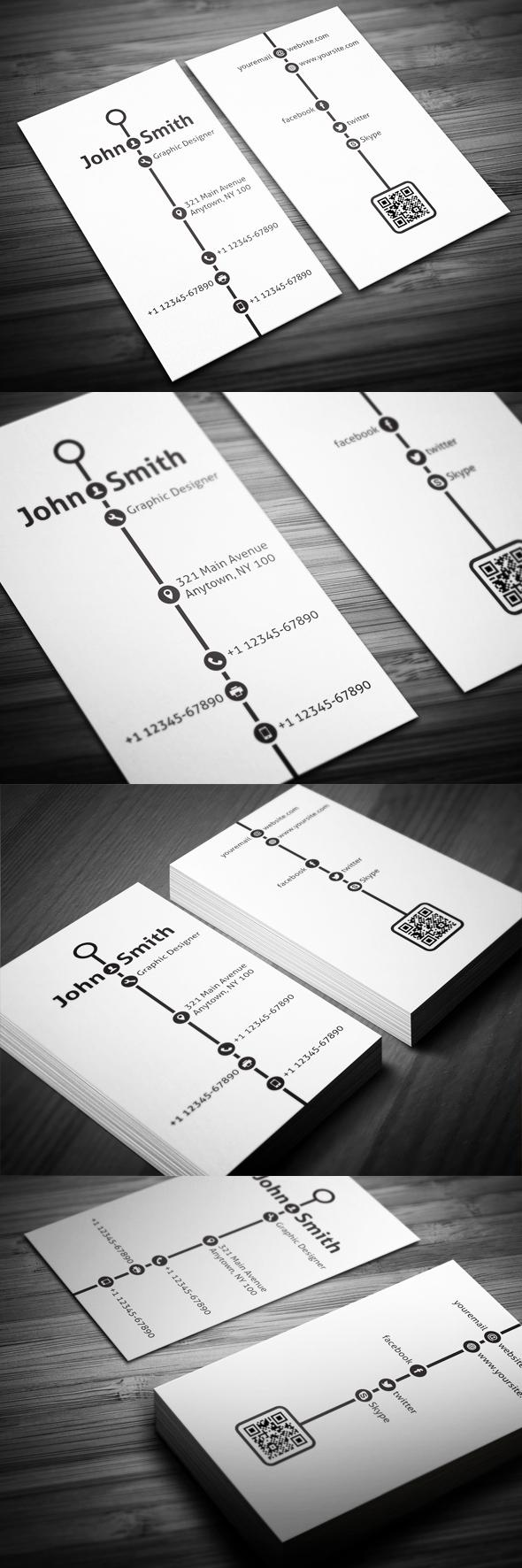 Creative Timeline Business Card On Behance Creative Ideas