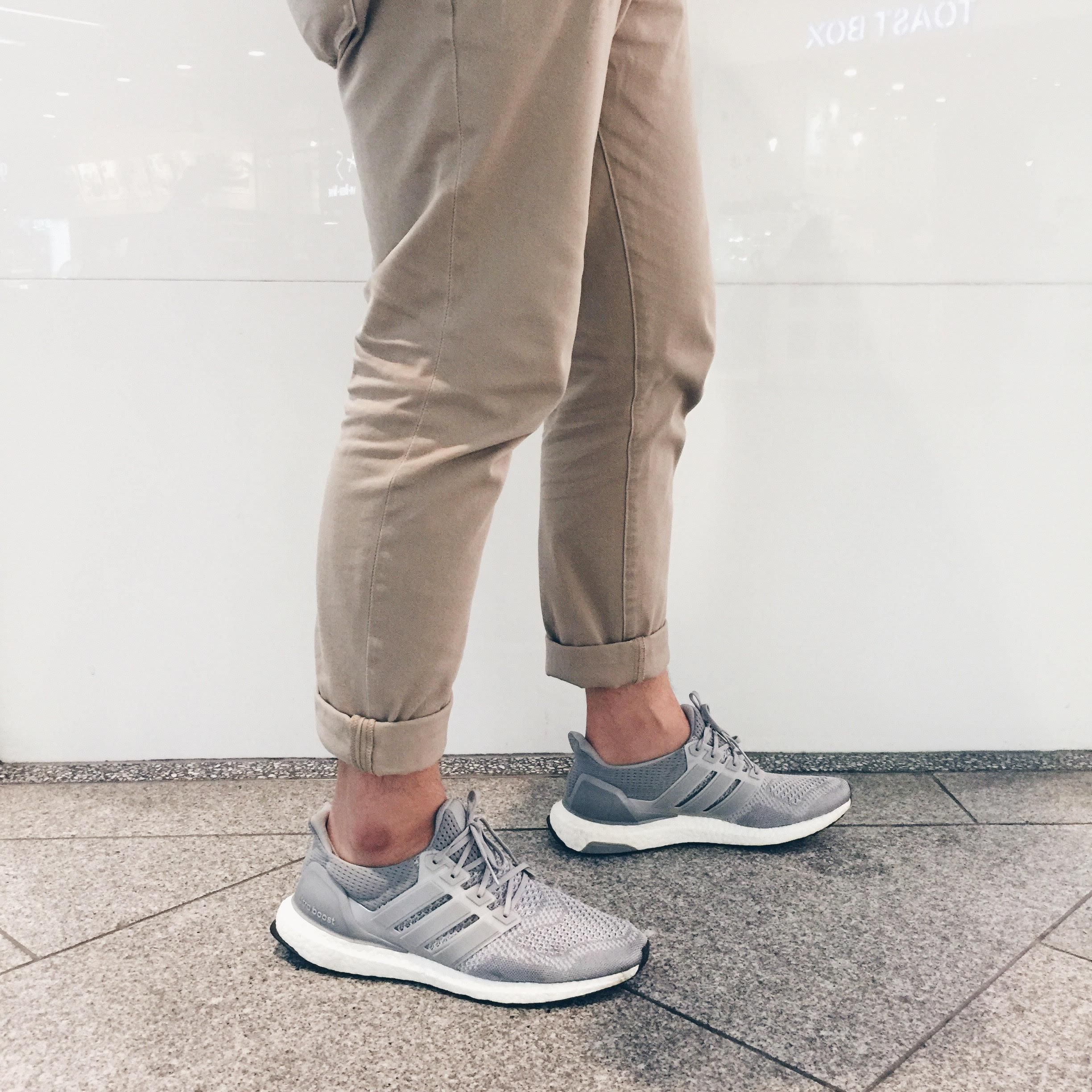 4799e202d2b WDYWT Ultra Boost Silver. Still one of my favorite colorways ever. Clean  and easy to match with any outfit. Pardon the messy pinstripe  P