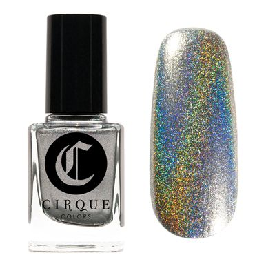 Cirque Colors: Sani (a silver foil with a rainbow holographic finish)