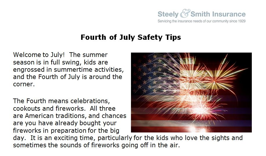 Fourth of july safety tips doylestown pa insurance