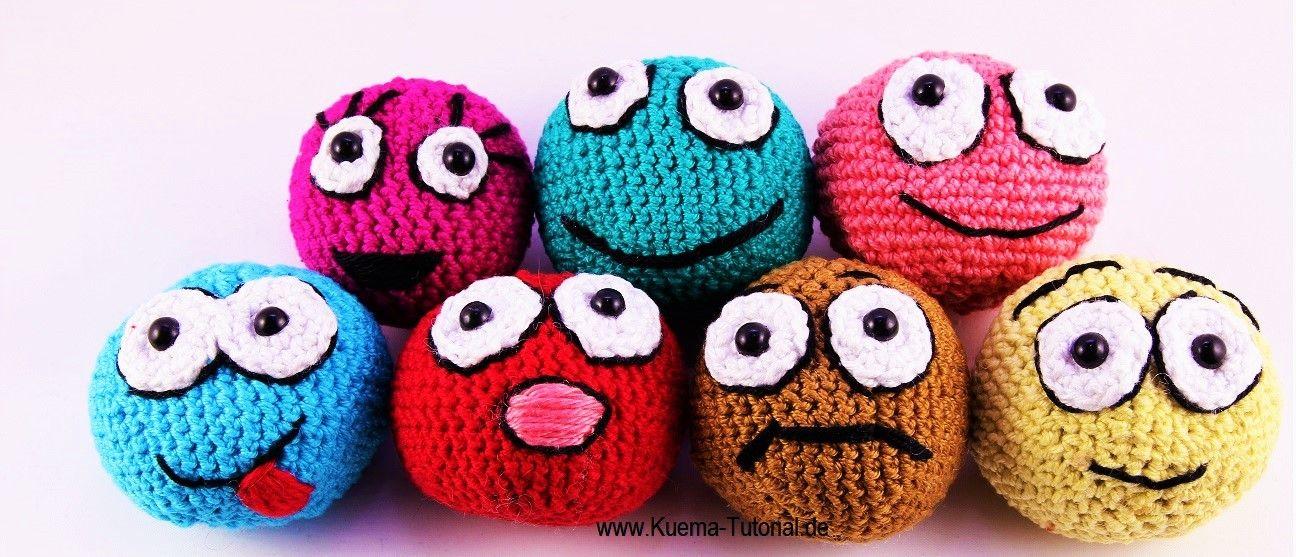 Häkeln Lernen Amigurumi Ballsmilie Kleinigkeiten Pinterest