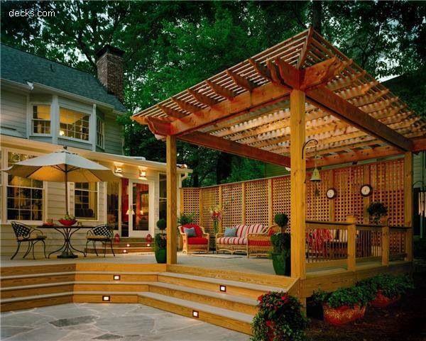 Backyard Deck Designs with Hot Tub