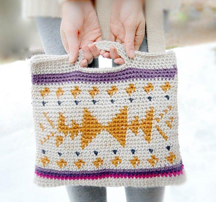 Southwest Tribal Tapestry Crochet Bag Pattern-2 | häkeln moch ...