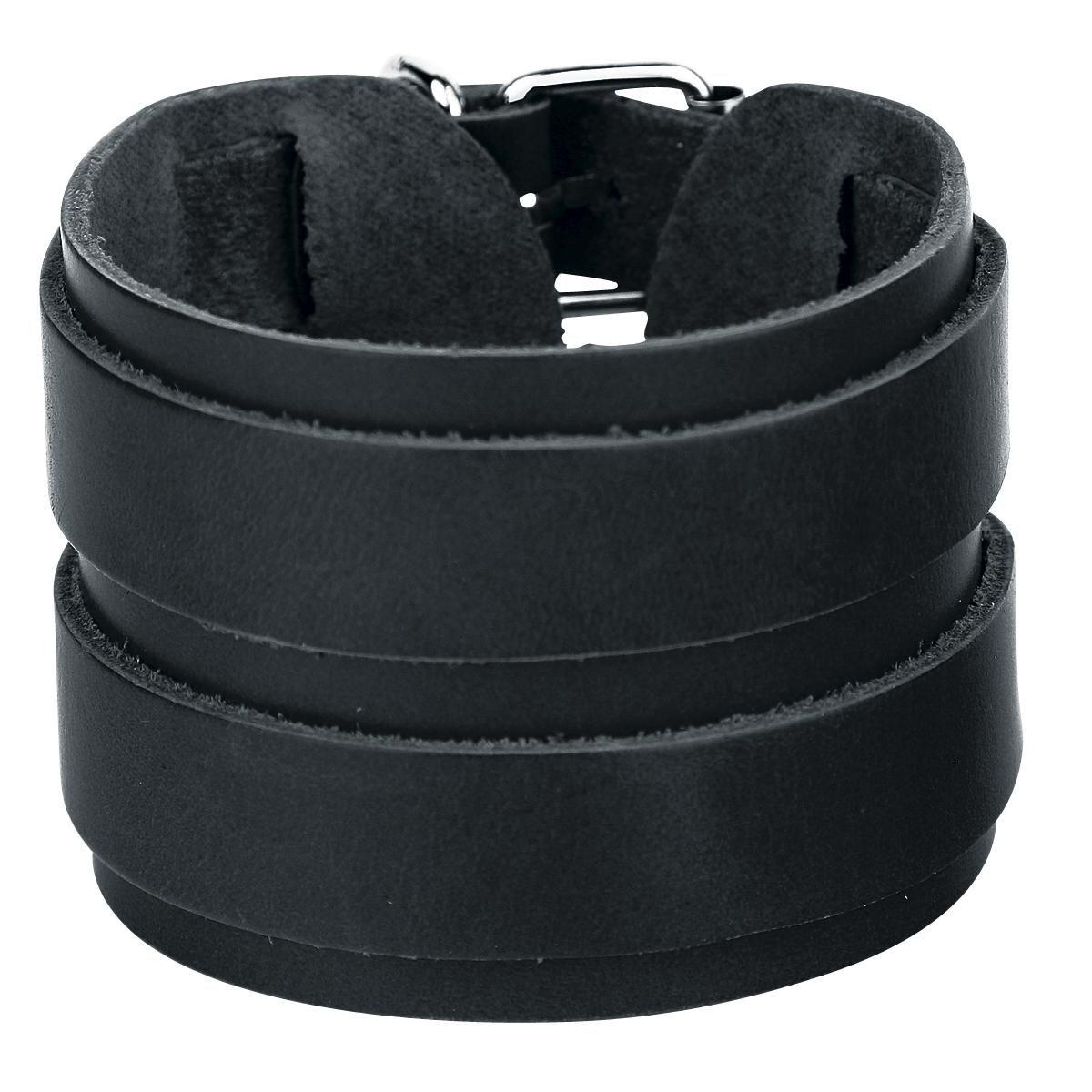 Double Leather Strap Bracelet - Lederen armband van Double Leather Strap…