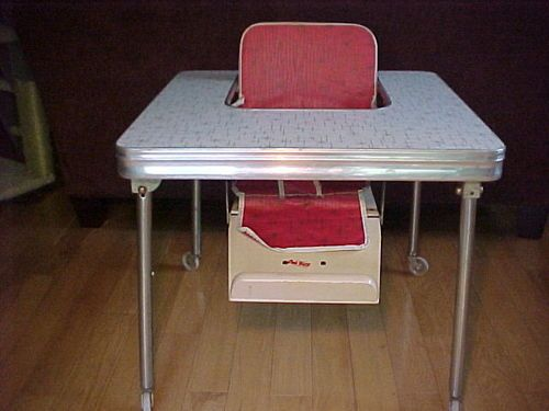 1950 S Baby High Chair Table Formica Retro Mid Century