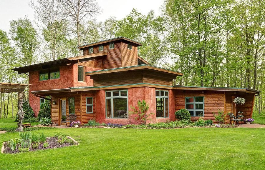 homegazing straw bale home in north branch natural house building rh pinterest com