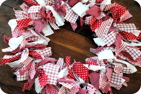Photo of .: Crafting With Love: A Fabric Wreath Tutorial :.