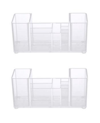 kenney bathroom countertop organizer, 8 compartments, set