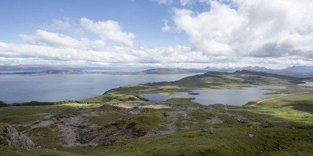 Poster, Leinwandbild »Schottland Küsten Skye Landschaften Küste Foto« #naturallandmarks