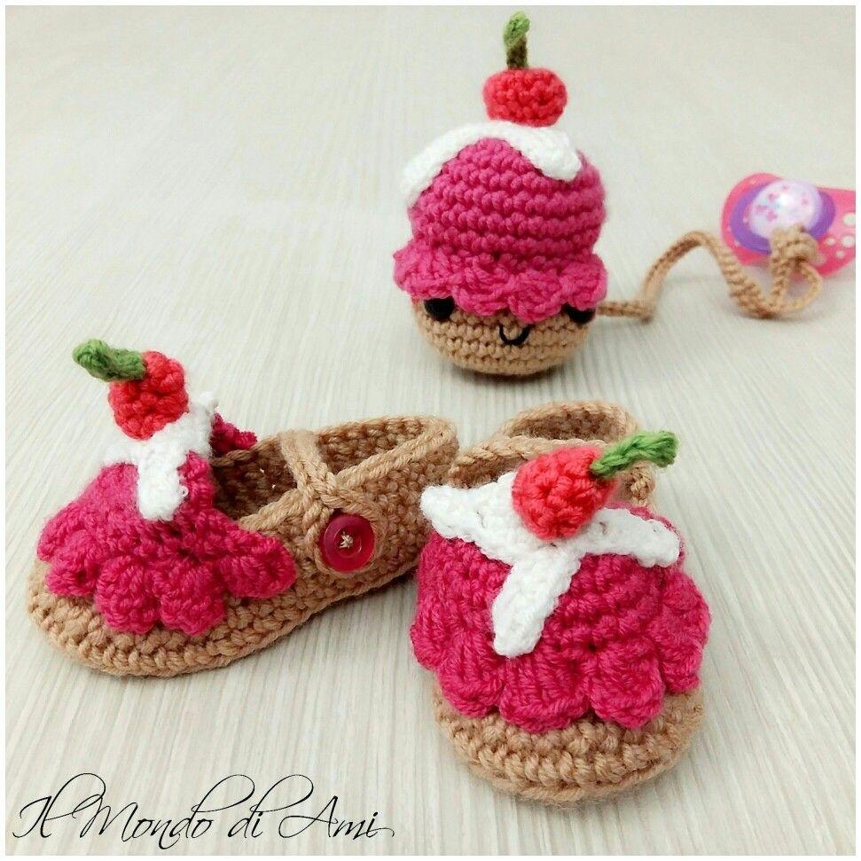 Kit Per Amigurumi : Cupcake kit per bimba ?? #babynewborn #cupcake #neonata # ...