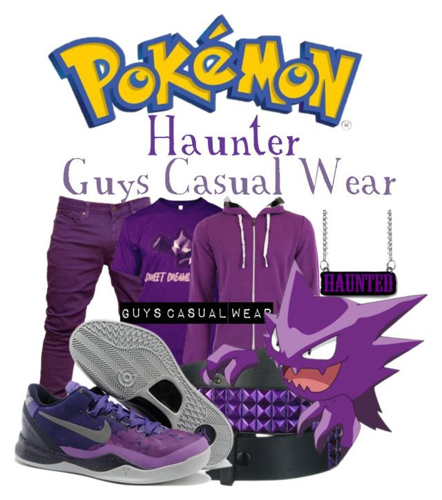 """""""Pokémon - Haunter"""" by gamer-geek-chic ❤ liked on Polyvore featuring INDIE HAIR and NIKE"""
