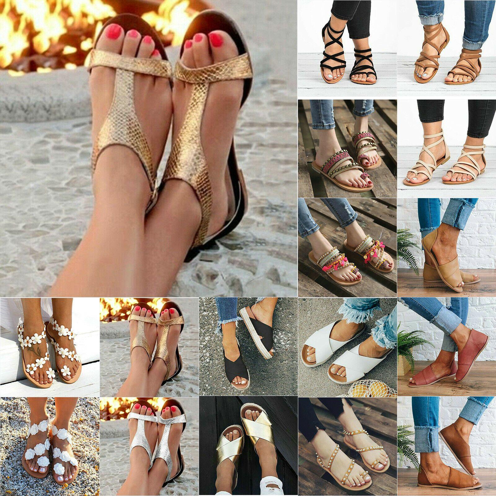Damen Plateau Sandalen Sandaletten Espadrille Sommerschuhe Strand Freizeitschuhe