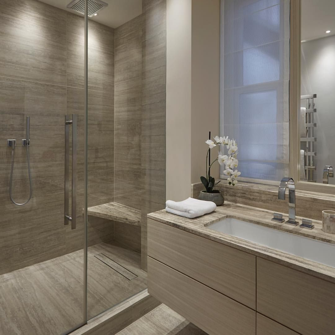 A sleek ensuite bathroom at our Regents