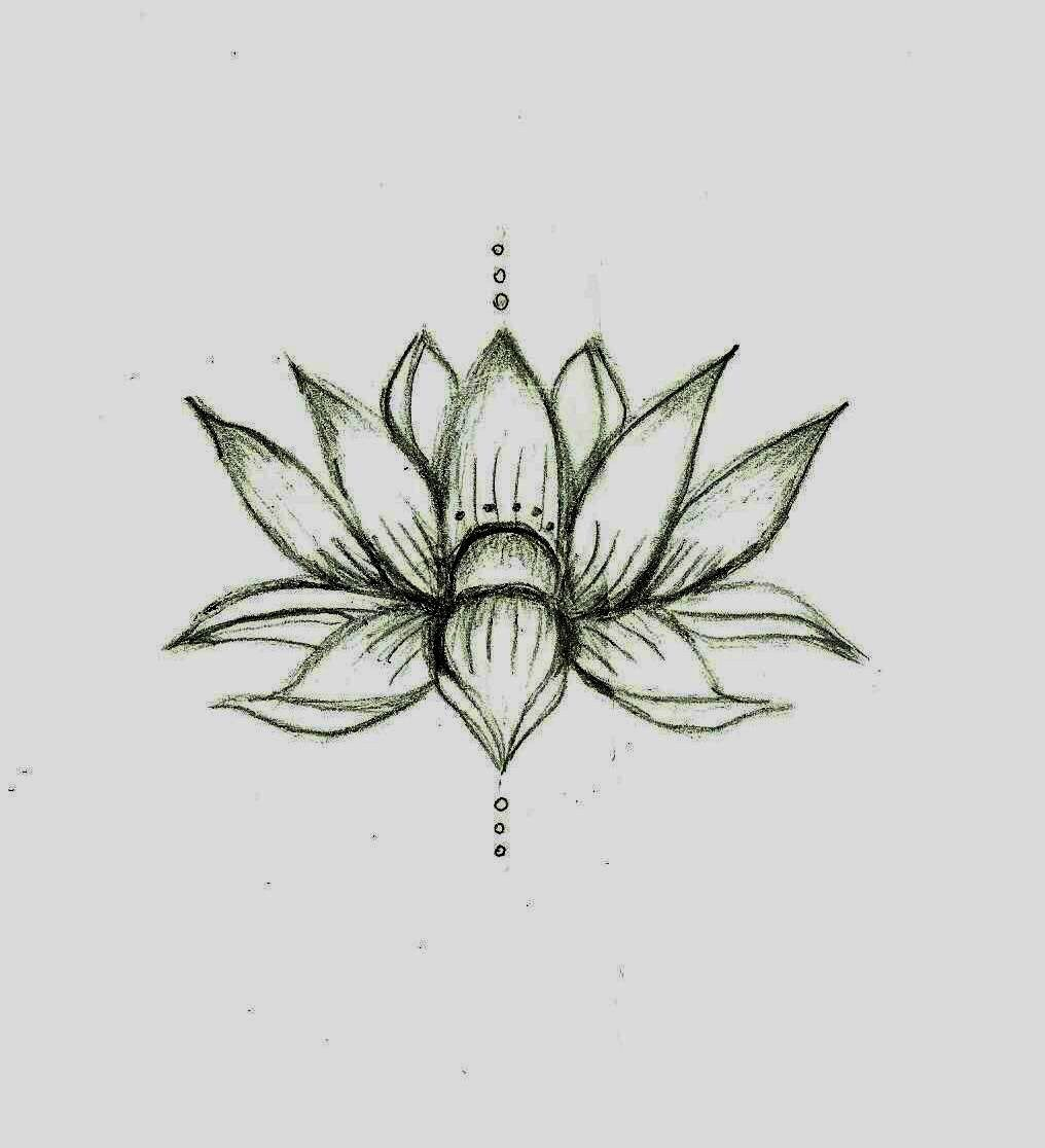 Love this lotus flower sketch❤ would be a cute tat actual size