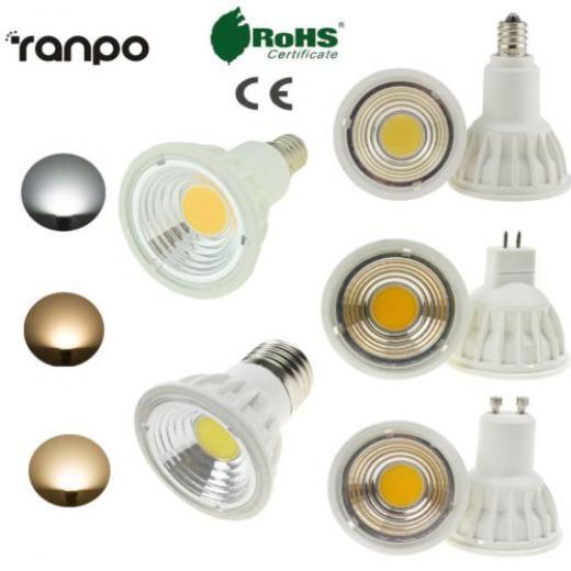 Ranpo 15w Dimmable E11 E14 E27 Gu10 Mr16 Led Cob Spot Light Bulb