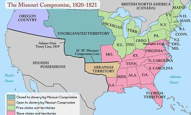 Map Still A map shows how the issue of slavery divided the United