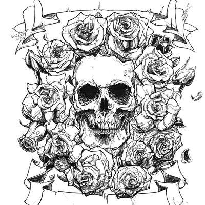 Pin On Skull N Roses