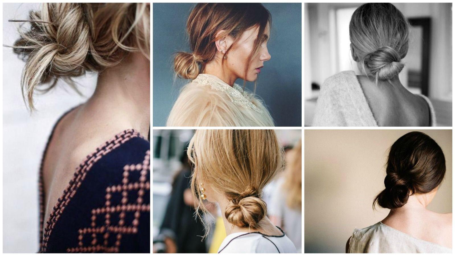 Easy mom hair low knot easyhairstylesstepbystep easy hairstyles