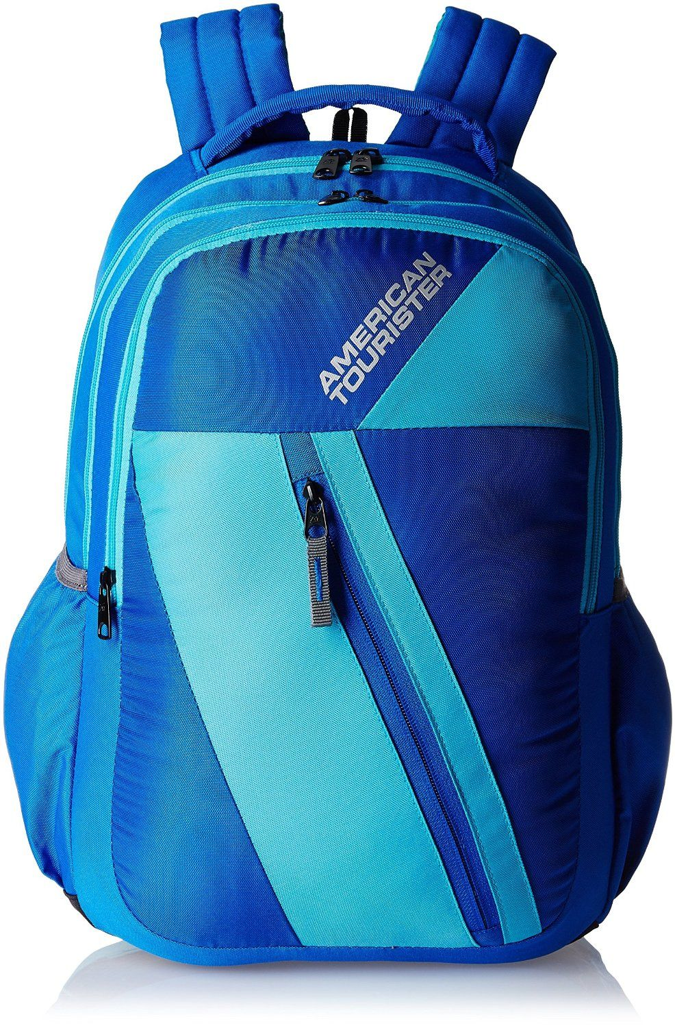 8c0ce36273ad American Tourister Ebony Blue Casual Backpack (Ebony Backpack  07 8901836132830) College Bags
