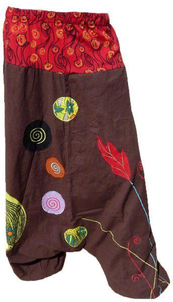 Pantalon Sarouel ethnique OS-06 Mixte coton népalais très grandes tailles du 34 au 60 - Izia-Ethnic - boutique vêtements ethniques