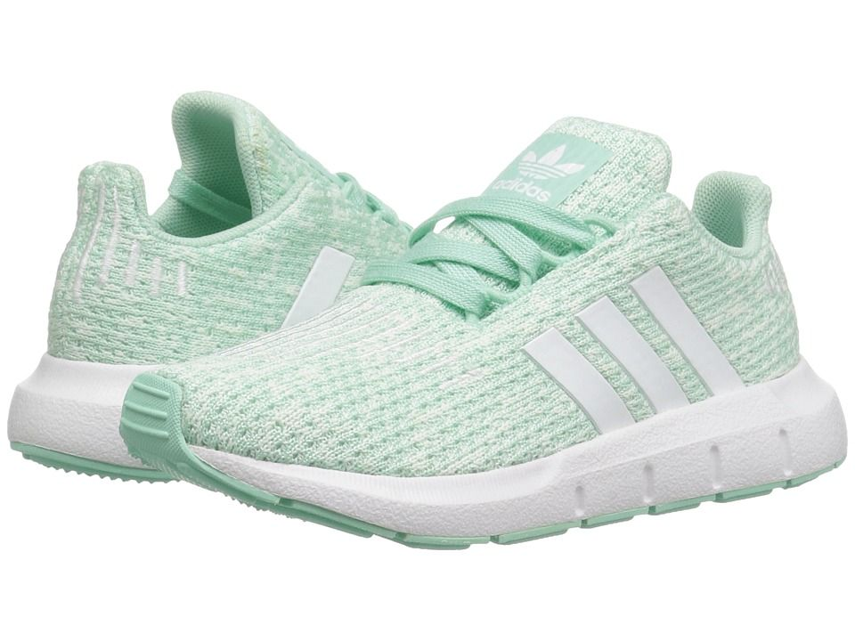 ff9b06de8775e adidas Originals Kids Swift Run INF (Toddler) Girls Shoes Clear Mint White Aero  Green