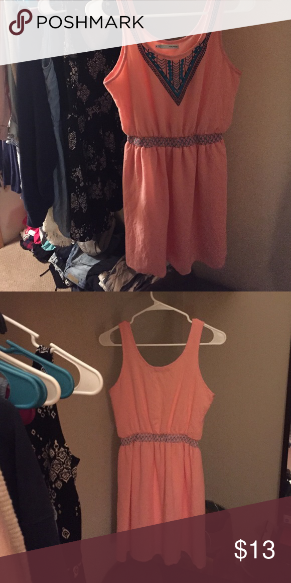 Maurices Dress Only worn like twice. It's a pink color with an orange tone in it. Good length Maurices Dresses