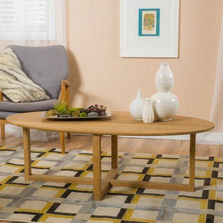 oval wood coffee table designs