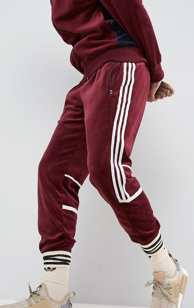 buy wide range great fit adidas Originals Challenger Velour Track Jogger In Red ...