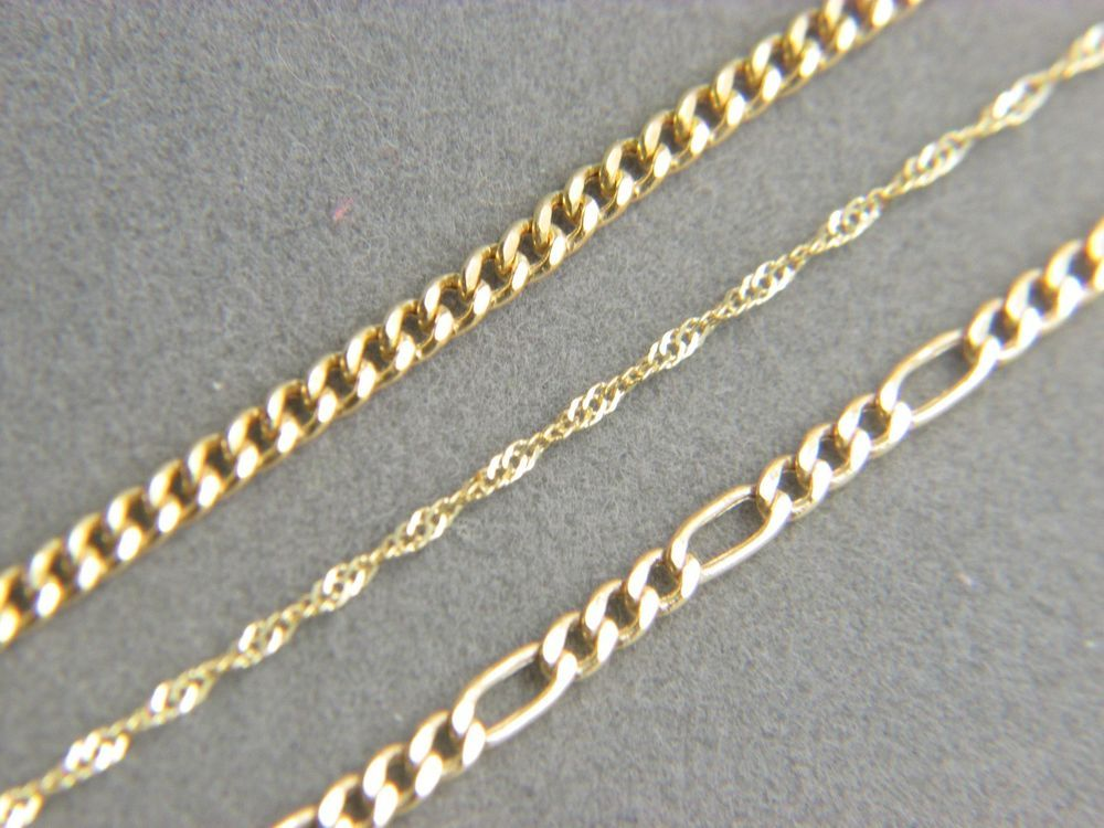 Real 10k Gold Chains Necklace Curb Anchor Singapore Necklace Chain Ebay 10k Gold Chain Chains Necklace Yellow Gold Chain