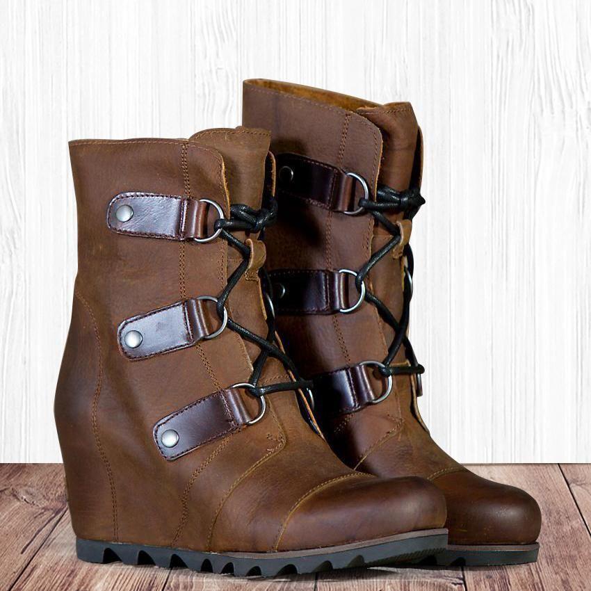 4dd7e3f5fd7 Women s Wedge Mid Waterproof Leather Boots – lalasgal