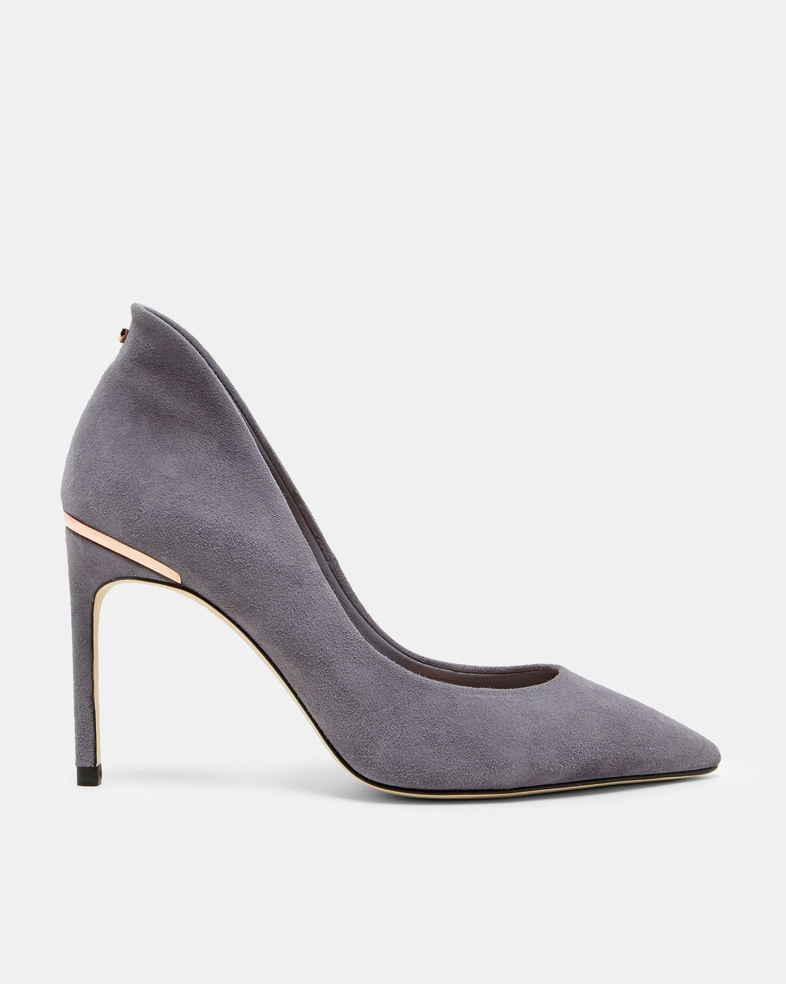 9982dfe5c Ted Baker Pointed toe suede courts Grey