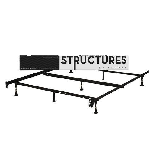 Twin / Full/Queen / Twin XL Adjustable Metal Bed Frame with Glide ...