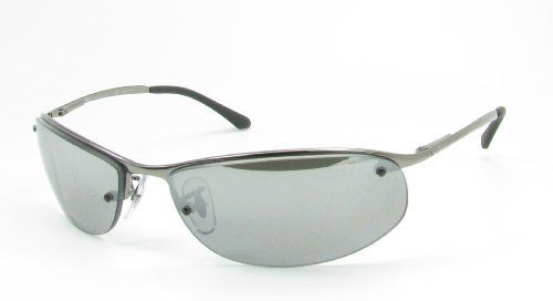 fcdd0c6cb4 Ray Ban Sunglasses RB 3179 Top Bar 004 82 Gunmetal Polarized Grey Mirror  Silver Gradient
