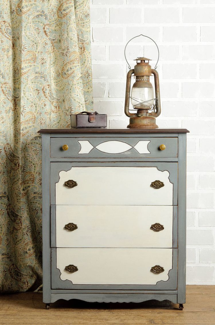 dresser painted in Miss Mustard Seed s Milk Paint using curio