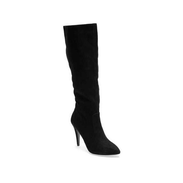 Buy Black Suede High Point Long Boots from the Next UK online shop ($130) ❤ liked on Polyvore