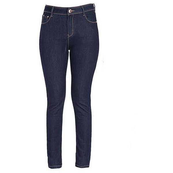 Plus Size Dark Blue Zipper Pocket Elastic Slim Pencil Denim Jeans ($23) ❤ liked on Polyvore featuring jeans, zipper pocket jeans, print jeans, deep blue jeans, white jeans and slim jeans