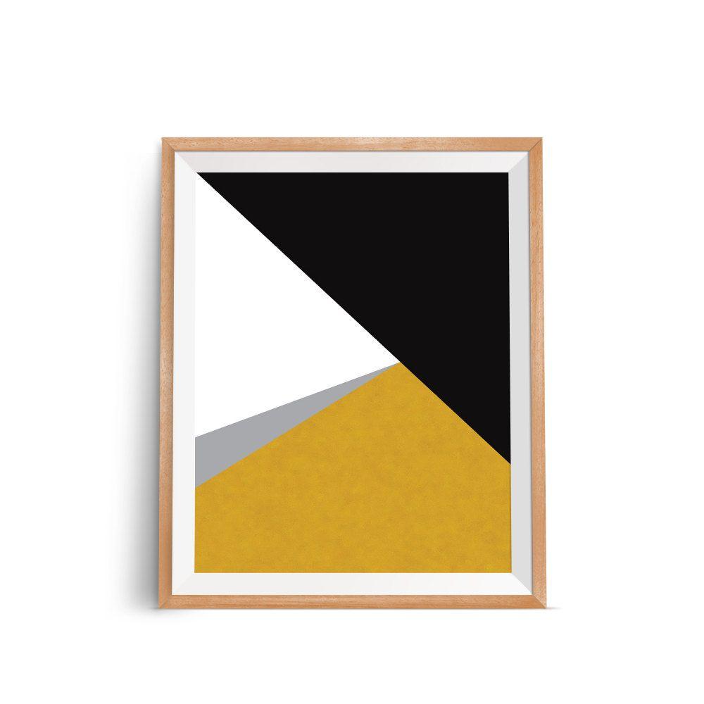 Geometric Art, Gold Print, Minimal Modern Wall Prints, Minimalist ...