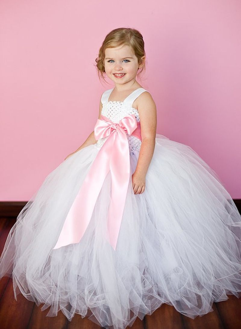 Pink Girl Tutu Dress For Birthday Photo Wedding Party Festival ...
