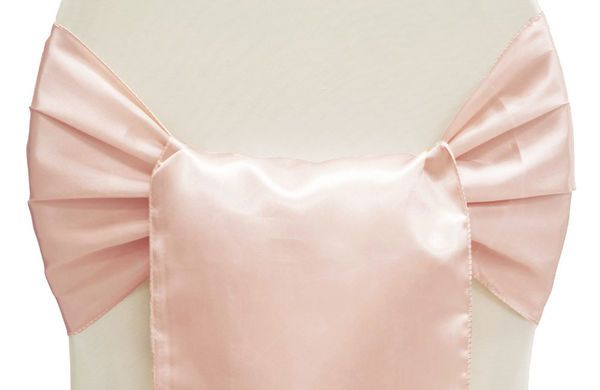 Rose Gold Satin Chair Sashes Small Papasan Cushion Wide Sash Blush Spring Wedding Pinterest