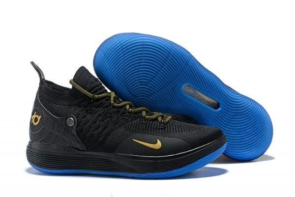 20dd2bffcb1d 2018 Nike KD 11 Custom Black Metallic Gold Mens Size For Sale-4 ...