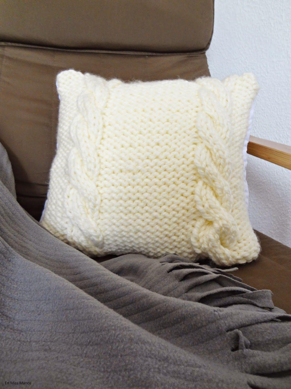 Cojines de lana diy con patr n cosas para ponerse diy y ideas - Cojines de lana ...