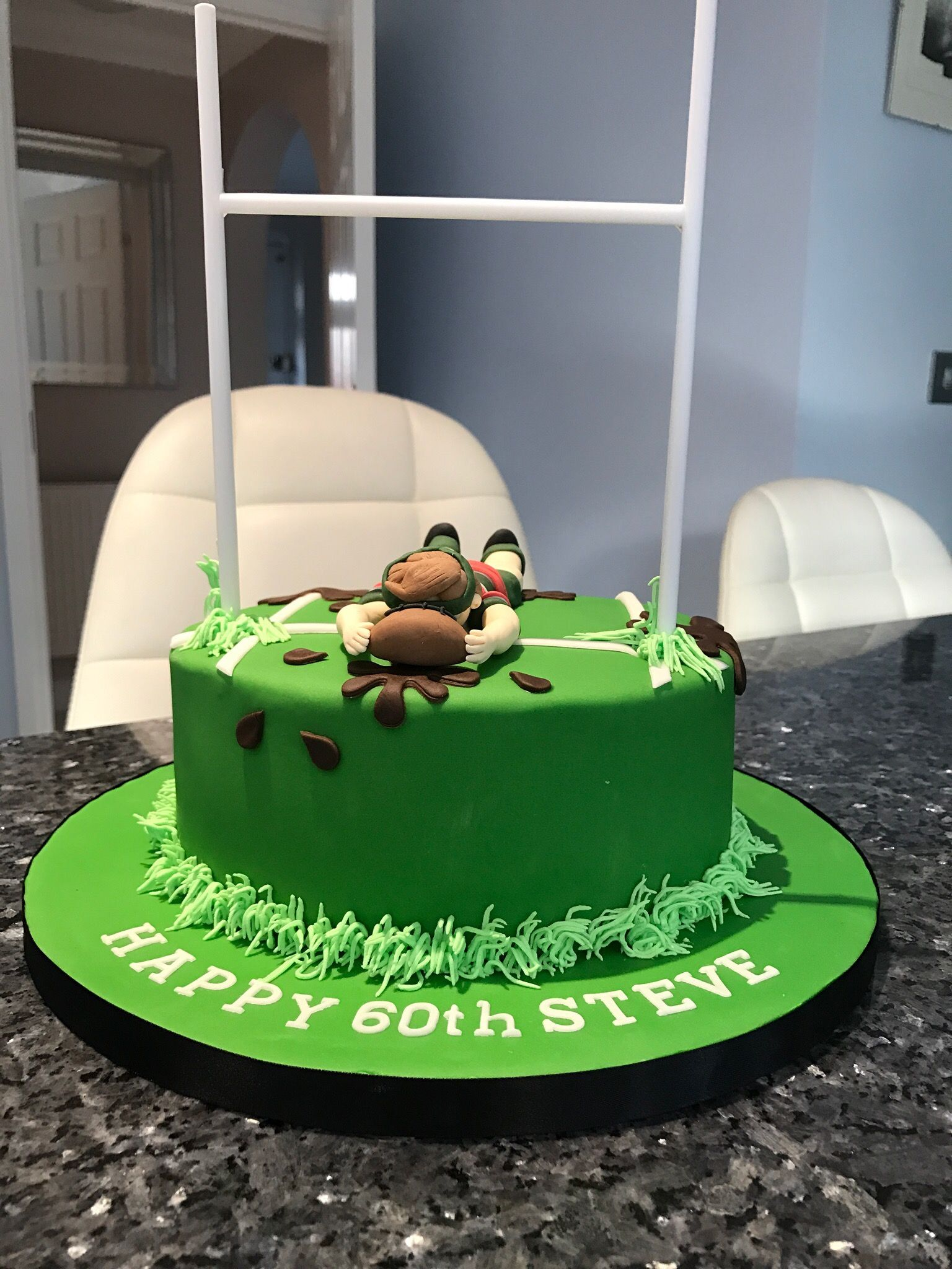 Rugby 60th birthday cake My homemade cakes Pinterest 60th