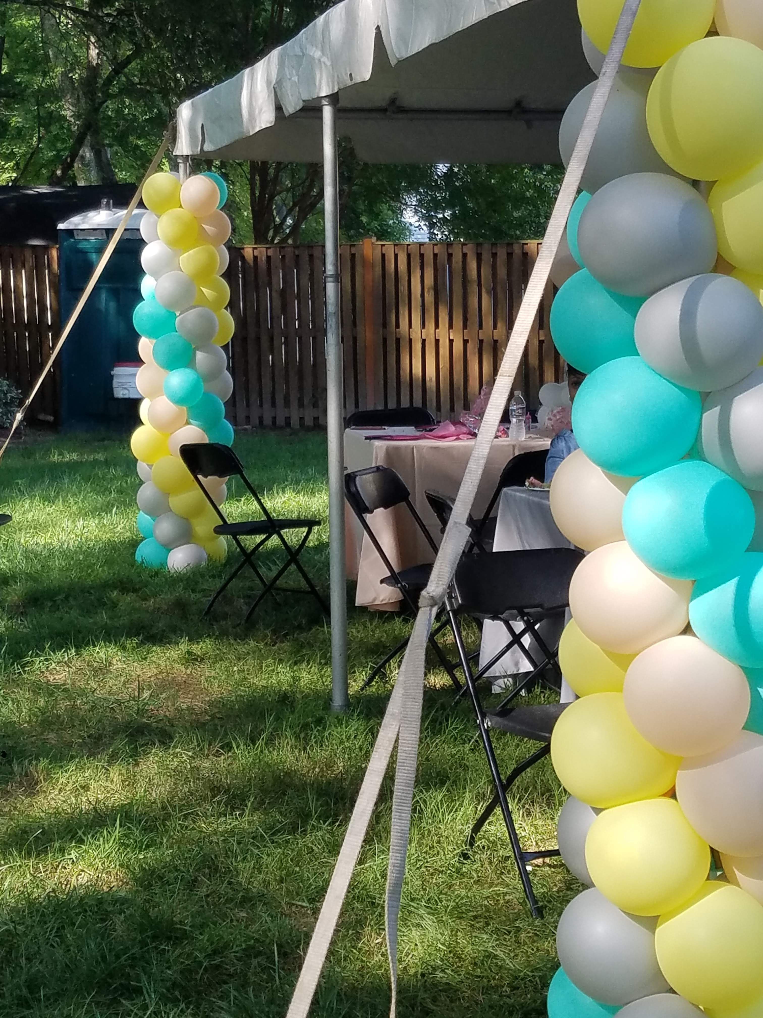 Image result for balloon tent pole