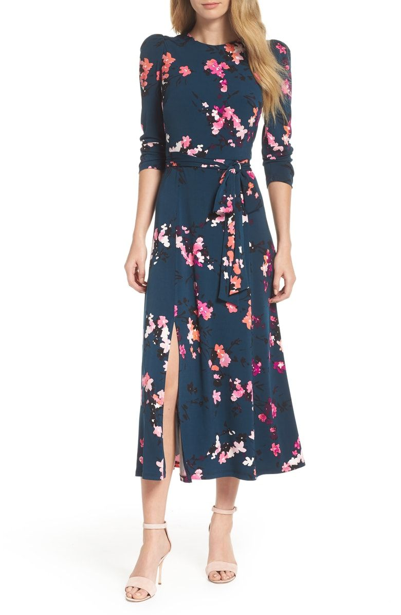 Free shipping and returns on eliza j floral print midi dress at