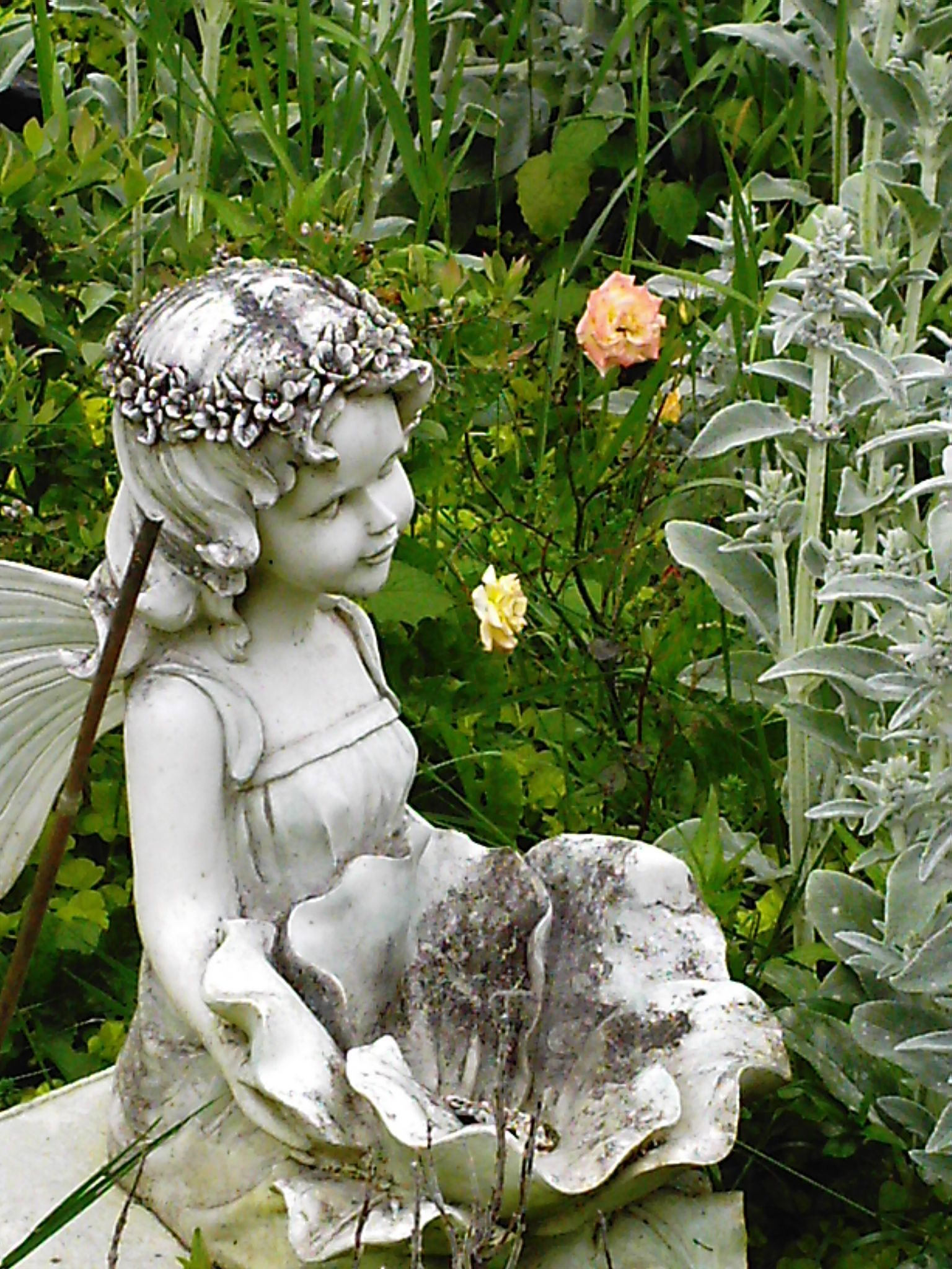 Plasticresin fairies garden statues lawn ornaments ebay Reading fairy garden statue